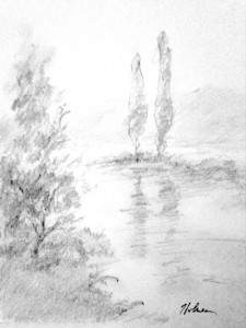 """""""Isolated, not Alone"""", pencil, by Tim Holmes"""