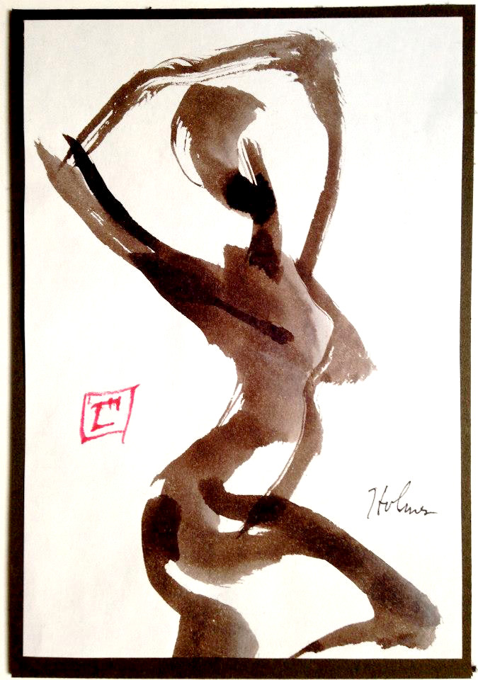 """Dancer Pose"", a gift drawing by Tim Holmes."
