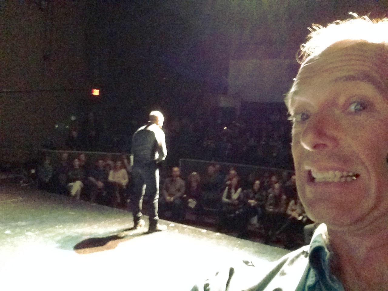 A selfie from the stage creates a ruckus.