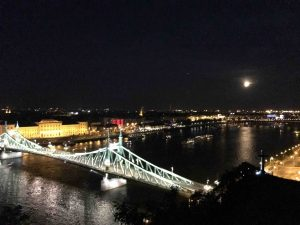 Full moon over Budapest