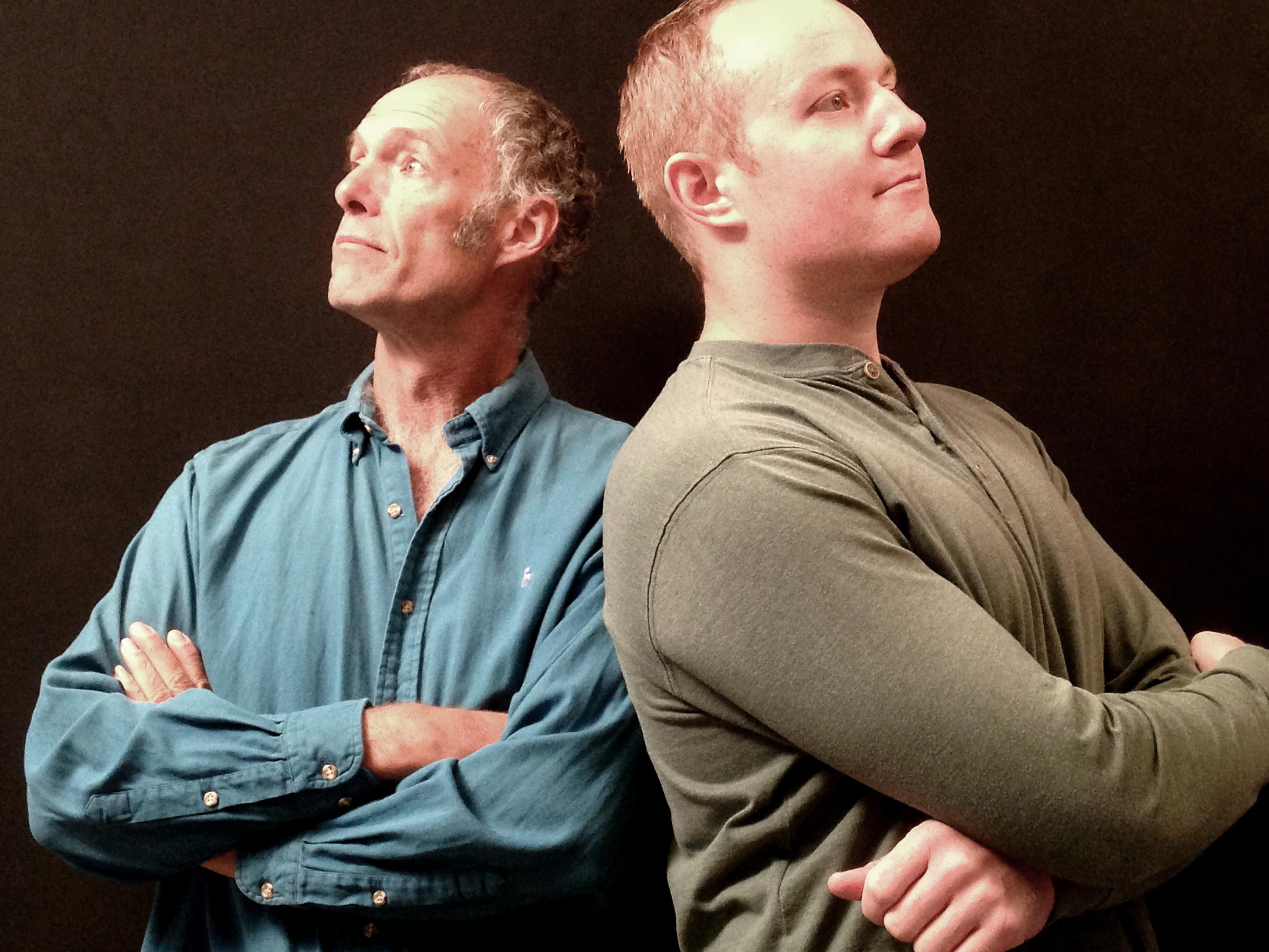 Tim Holmes and Garret Garrels combine art, storytelling and comedy.